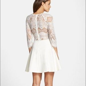 BB Dakota White Lace Yale Dress Size S